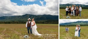 Wedding photography in Cades Cove