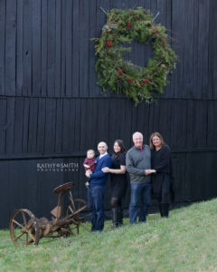 Blackberry Farms Old Barn as backdrop for family portraits