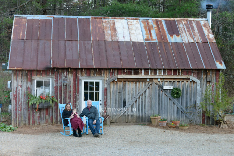 Old Farm House at Blackberry Farms for family portraits
