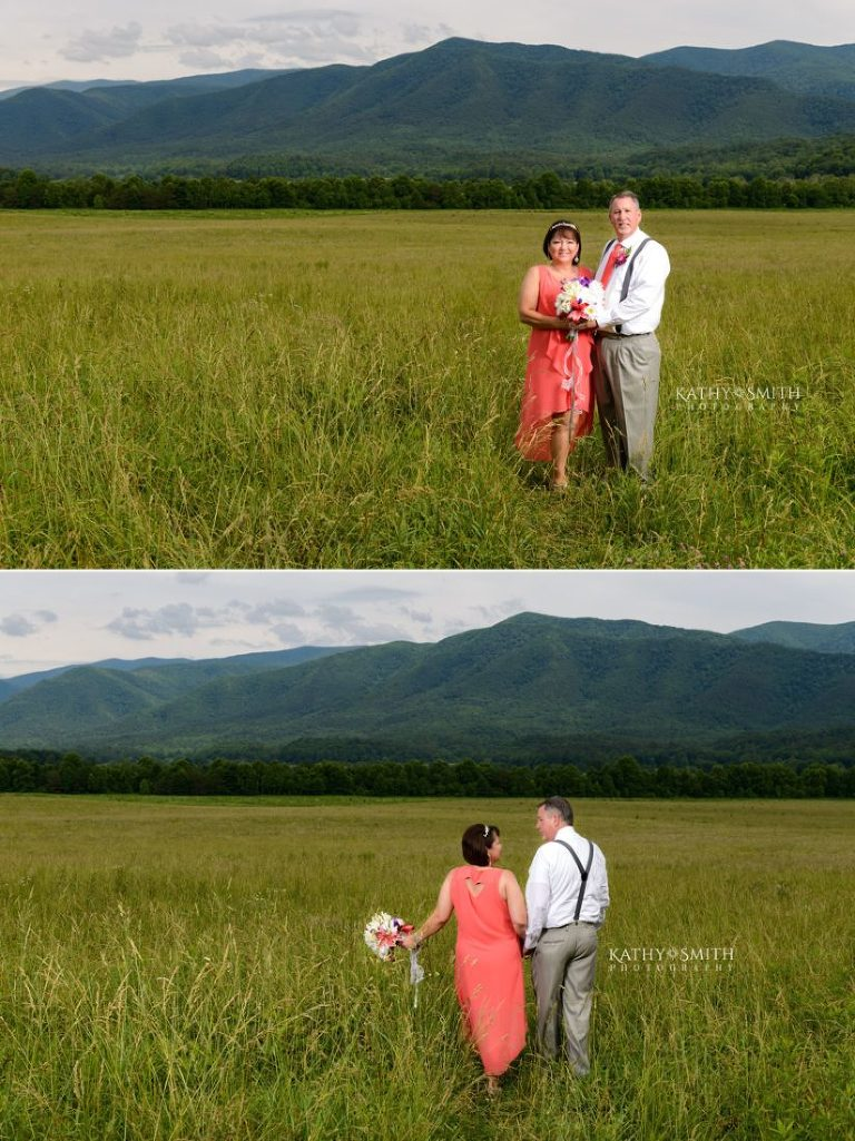 Wildlife Overlook in Cades Cove is the perfect spot for a wedding