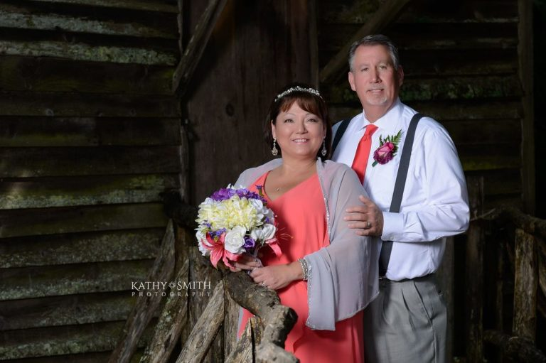 Looking great after their wedding in Cades Cove with Kathy Smith Photography