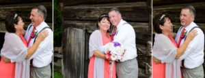Love birds after their wedding in Cades Cove