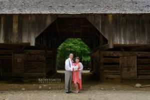 Portraits after the wedding at Tipton Place in Cades Cove by Kathy Smith Photography