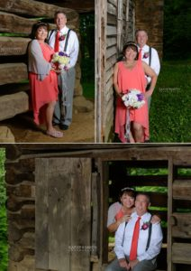 Portraits after the wedding in Cades Cove by Kathy Smith Photography