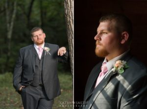 The groom looking dapper for his wedding portraits by Kathy Smith Photography