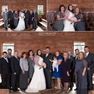 Family wedding portraits after the ceremony in Cades Cove