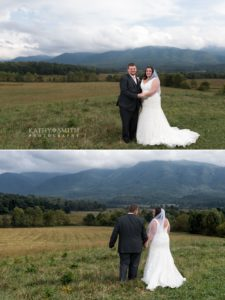 Wildlife Overlook in Cades Cove is the perfect spot for wedding portraits with Kathy Smith Photography