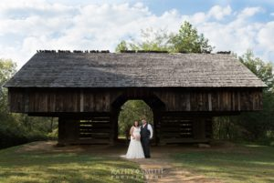 The barn at Tipton Place in Cades Cove on a beautiful day