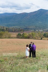 Beautiful view in Cades Cove for a wedding