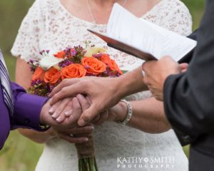 Blessing of the couple at the wedding in Cades Cove with Kathy Smith Photography