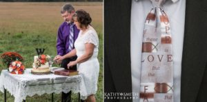 Celebrating their wedding in Cades Cove, photography by Kathy Smith Photography