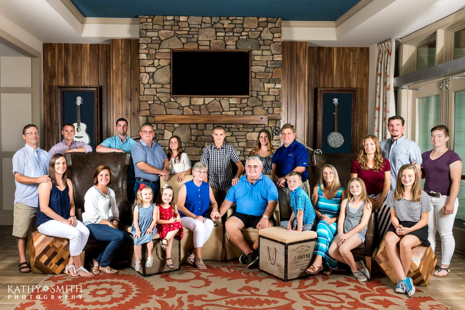 Family reunion portraits Dollywood Dreammore Resort