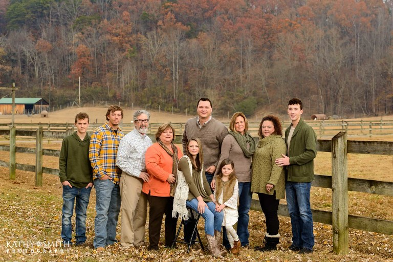 Family portraits at the Lily Barn Cabins in Townsend TN