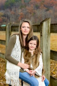 Portraits of two beautiful sisters in the Smoky Mountains